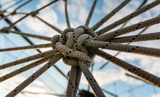 corda in un nodo foto