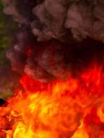 sfondo di fiamme di fuoco foto