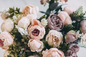 bouquet di peonia pastello foto