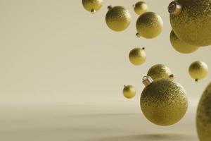 bella disposizione di sfondo natalizio foto