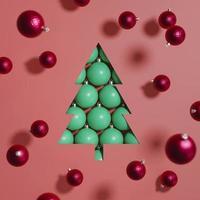 sfondo di decorazioni e ornamenti natalizi foto