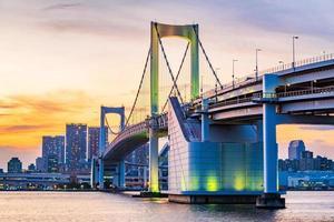 vista panoramica sullo skyline di tokyo in serata. tokyo city, giappone. foto