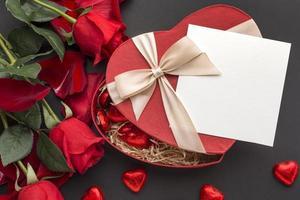 modello di carta di San Valentino foto