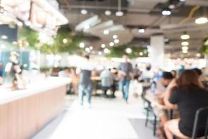 sfocatura astratta food court foto