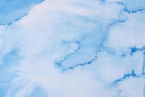 sfondo blu pittura ad acquerello foto