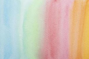sfondo di pittura ad acquerello arcobaleno foto