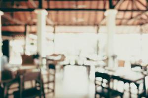 sfocatura ristorante per lo sfondo foto