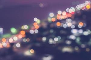 luci della città di bokeh foto