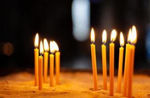 primo piano delle candele foto