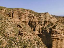 vista aerea del paesaggio delle montagne negli Stati Uniti occidentali foto
