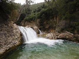 vista panoramica della cascata foto