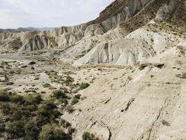montagne rocciose asciutte foto