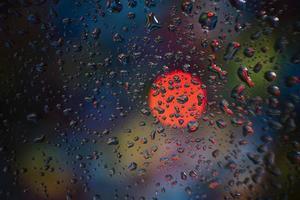 sfondo gocce di pioggia da vicino foto