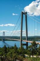 grande ponte sospeso durante il giorno foto