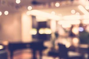 sfocatura astratta ristorante sfondo - filtro vintage foto