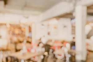 interno defocused astratto della caffetteria per lo sfondo foto