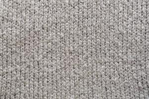 colpo di telaio completo di stoffa tessuta grigia foto