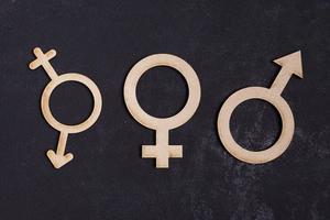 icone di concetto di uguaglianza di genere foto