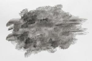 pittura ad acquerello nero con copia spazio foto