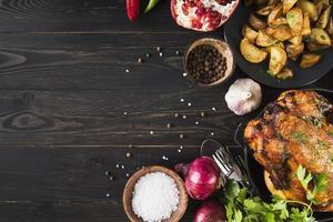 deliziosa cornice del cibo del ringraziamento foto