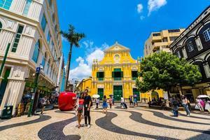 cina, macao - 6 settembre 2018 - st. chiesa dei dominici nella città di macao foto