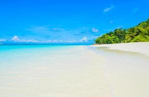 bellissimo sfondo spiaggia tropicale foto