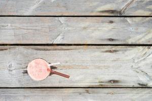 bicchiere di succo di anguria foto