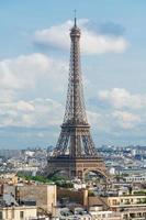 torre eiffel, famoso punto di riferimento e destinazione di viaggio in francia, parigi foto