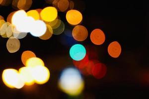 lampioni colorati bokeh foto
