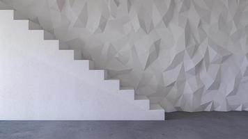 Immagine di rendering 3D del soggiorno di interior design foto