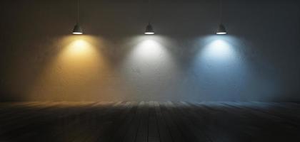 Scala della temperatura del colore 3D foto