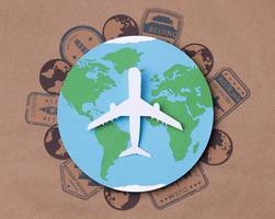 vista dall'alto concetto di giornata mondiale del turismo foto