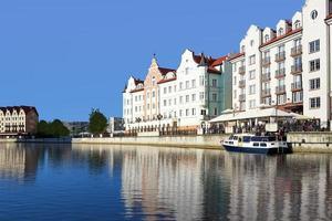 il paesaggio urbano della città di Kaliningrad foto