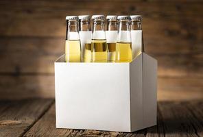 mockup six pack di birra leggera foto