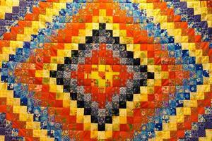 sfondo screziato in tessuti patchwork foto