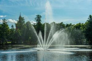 fontana in uno stagno foto