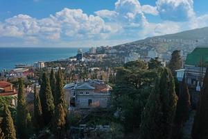 yalta, crimea. paesaggio urbano foto