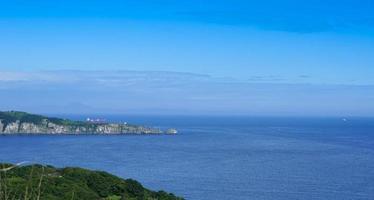 vista sul mare con vista sullo stretto del bosforo orientale foto