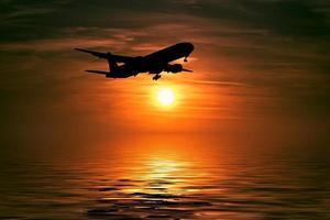 la sagoma dell'aereo foto