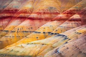 colline dipinte dettaglio john day fossil beds national monument oregon foto