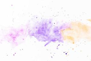 schizzi di vernice giallo viola foto