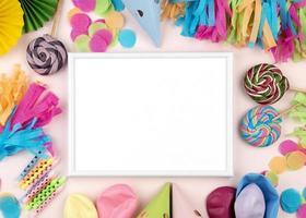 sfondo festa con copia spazio foto