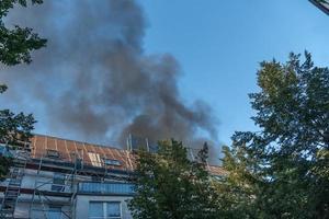 fumo di fuoco o inquinamento foto