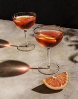 cocktail di arancia rossa foto