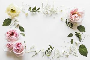 vista dall'alto fiori foglie. alta qualità e risoluzione bellissimo concetto di foto