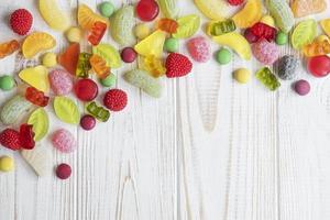 caramelle colorate, gelatine e marmellate foto