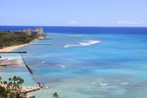 spiaggia di waikiki, honolulu hawaii foto