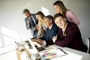 gruppo di professionisti aziendali foto
