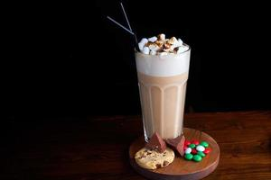 caffè freddo con gelato al cioccolato foto