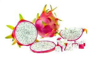 bellissimo frutto del drago rosa o pitaya foto
